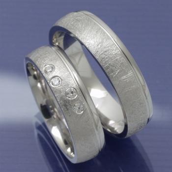 Eheringe-Shop - Silber Trauringe Eismatt P4292400