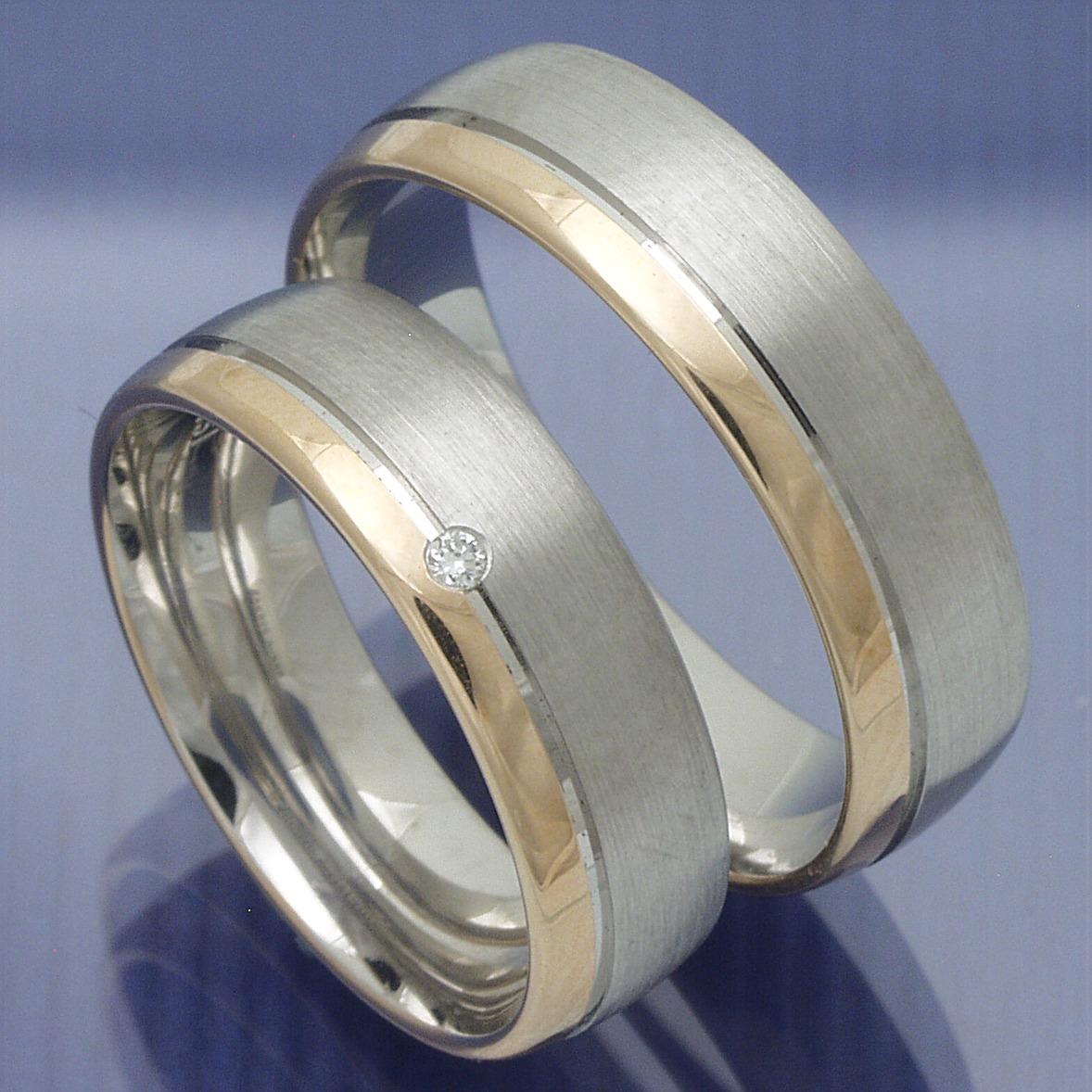 ... Gold Trauringe » Trauringe Verlobungsringe Silber Rotgold - Marlon