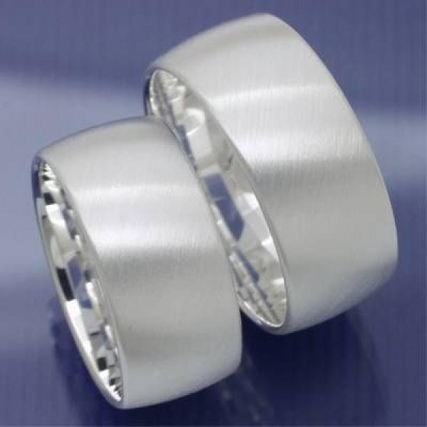 ... - 10 mm breite Silber Eheringe Trauringe Freundschaftsringe P1110959