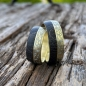 Preview: Gold Eheringe mit Holz