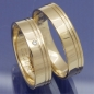 Preview: Trauringe aus 375 Apricotgold mit 0,010 ct Brillant P3051065