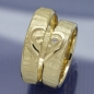 Preview: Trauringe 585 Gelbgold Herz - Heart