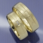 Preview: Trauringe aus 585 Gelbgold mit Brillant P9293147