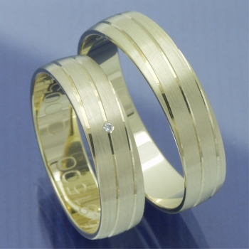Slim Line Partnerringe Gelbgold P8319179
