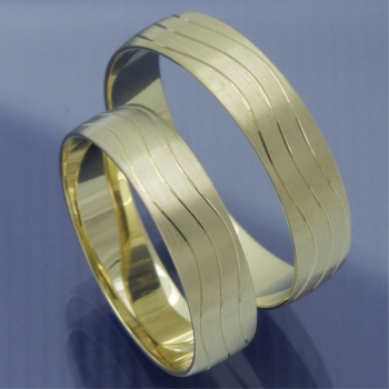 Slim Line Partnerringe Gelbgold P8319180