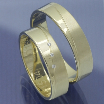 Slim Line Partnerringe Gelbgold P8319181
