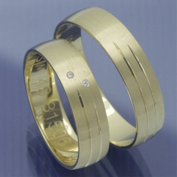 Slim Line Partnerringe Gelbgold P8319182