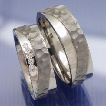 Partnerringe titan bicolor  Eheringe-Shop - Titan Keramik Trauringe P8102082