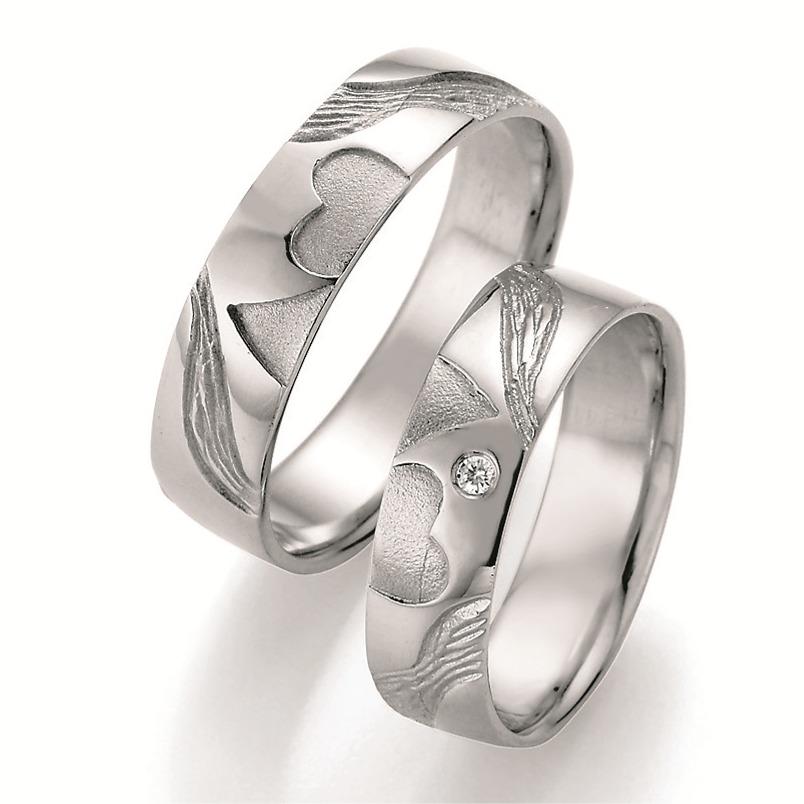 Partnerringe silber herz  Eheringe-Shop - Trauringe aus Silber - Doppelherz