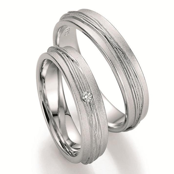 Eheringe Shop Ausgefallene Silber Trauringe Mit Brillant 89031