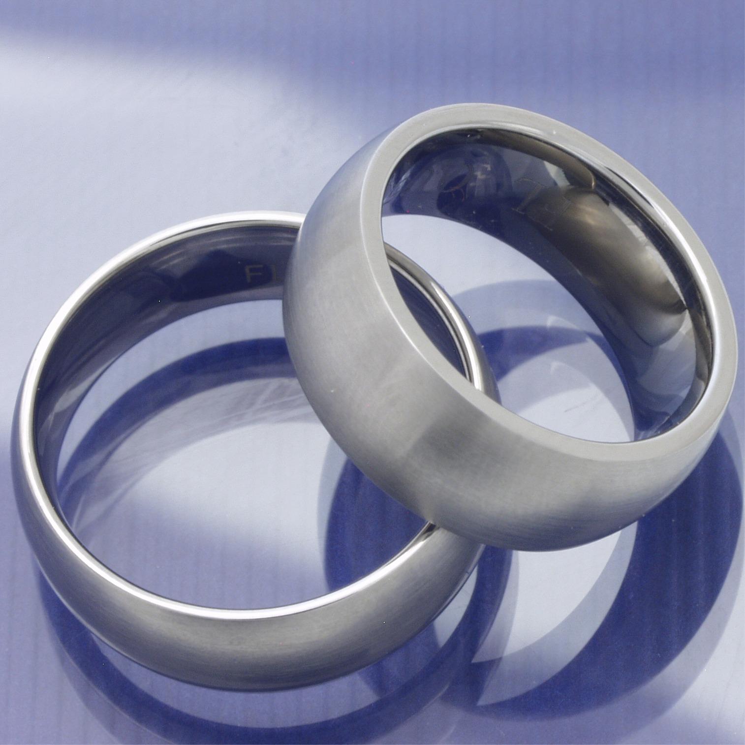 1 Paar Edelstahl EheringeTrauringeFreundschaftsringe ohne Stein P2052692