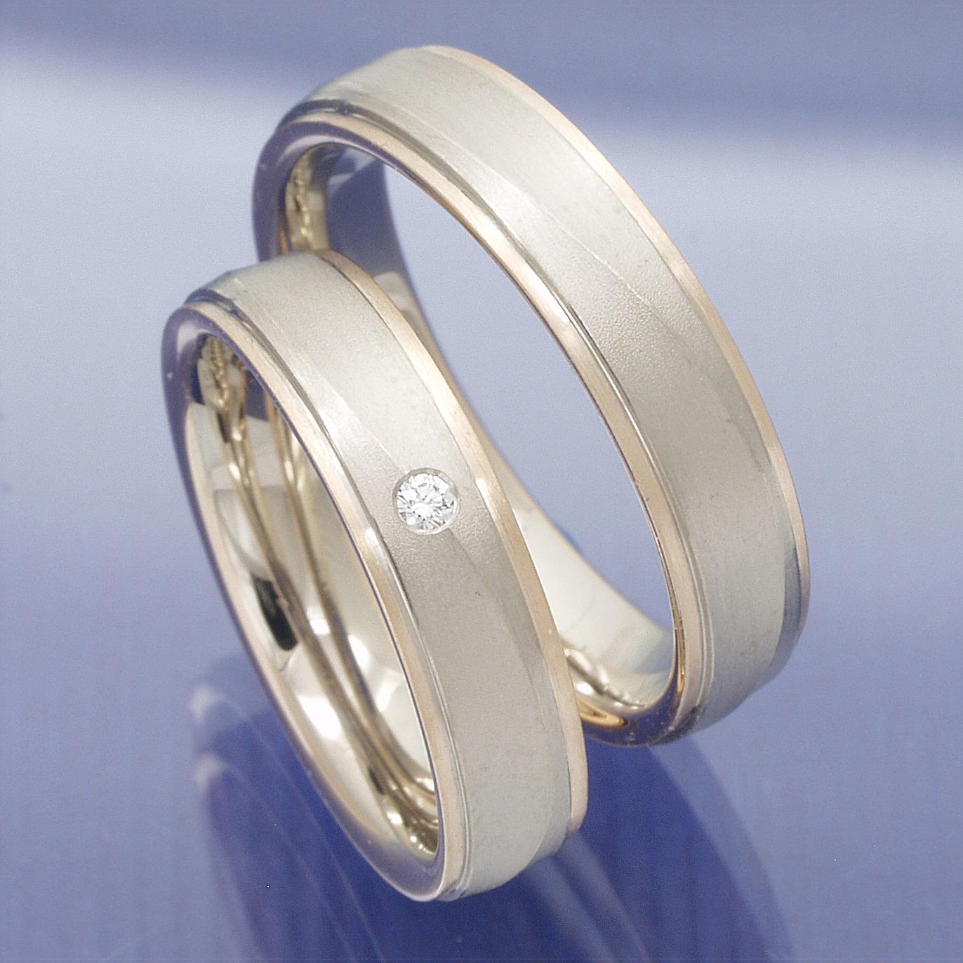Partnerringe weißgold  Eheringe-Shop - 1 Paar Eheringe oder auch Partnerringe aus 585 ...