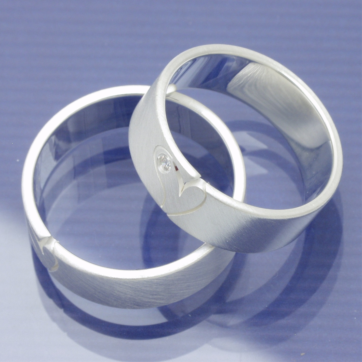 Partnerringe silber herz  Eheringe-Shop - Silber Freundschaftsringe mit offenem Herz