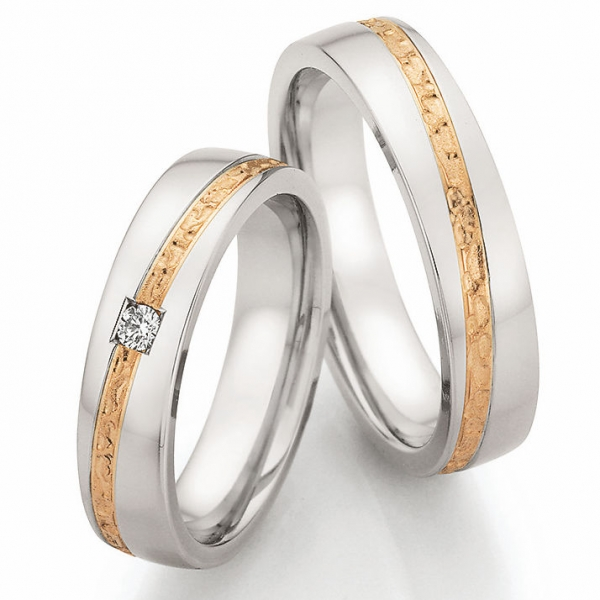 Trauringe Steel & Gold Forever Brillant RU24110