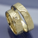 Trauringe 585 Gelbgold Peace